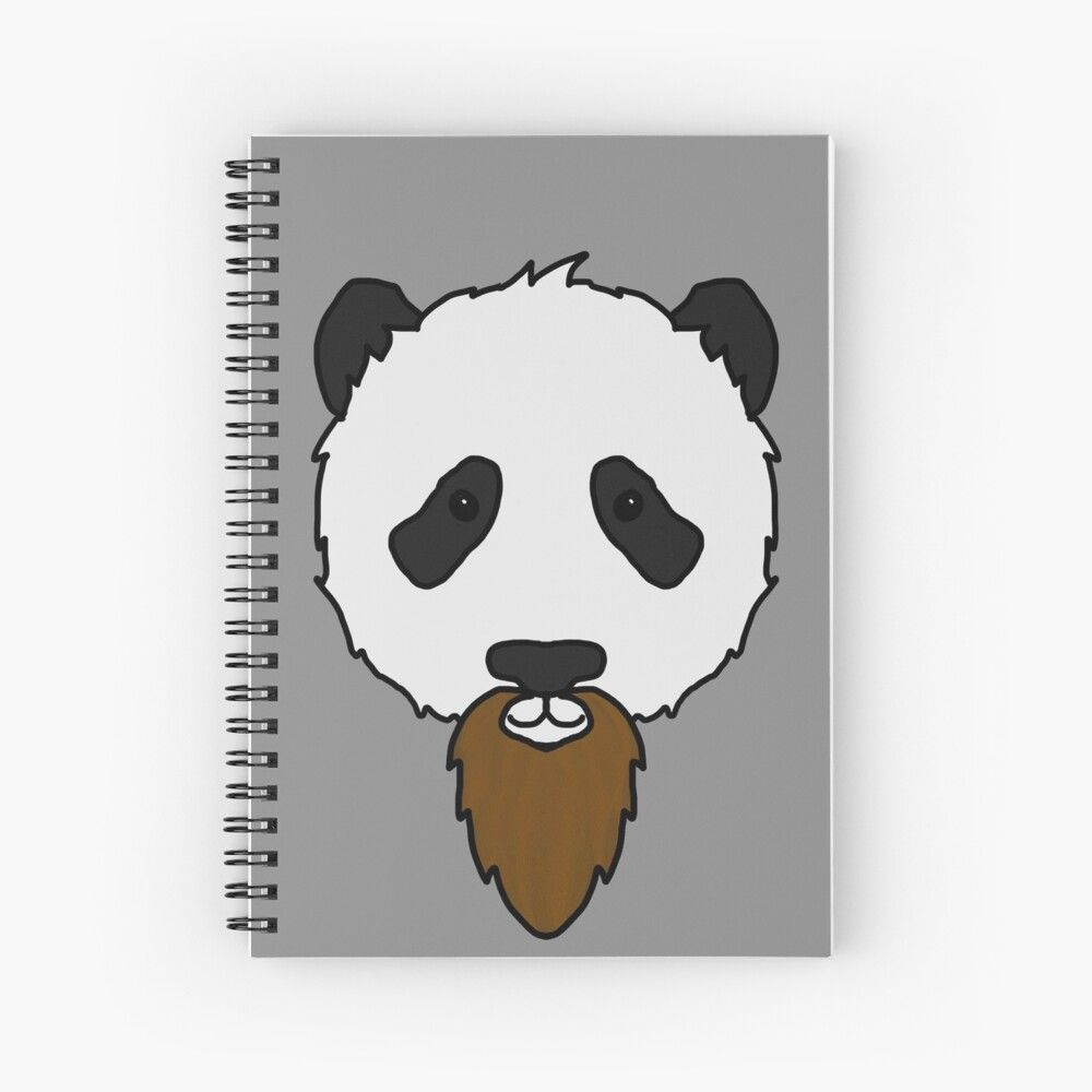 Bearded Panda Spiral Notebook By Dannybrophy In 2020 Spiral