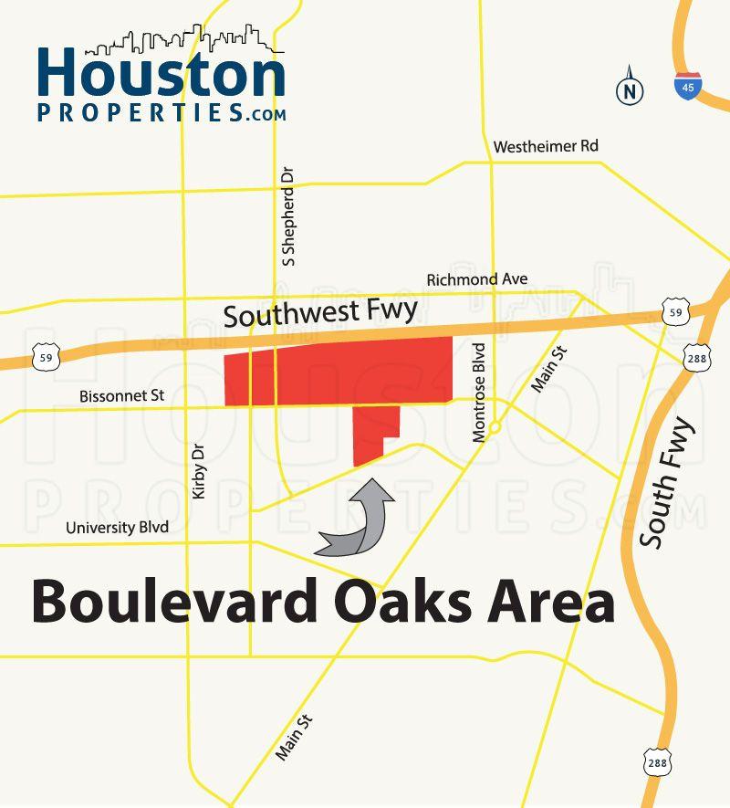 Houston Oaks: Boulevard Oaks Houston Map (With Images)