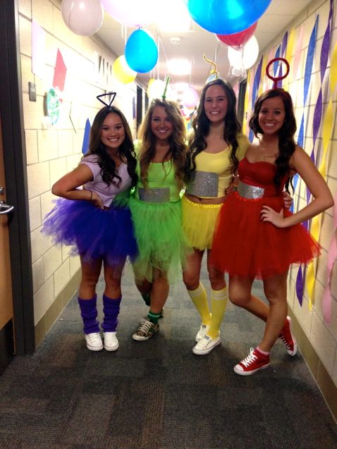 college halloween costume teletubbies