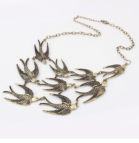 """Seagull"" Bib Choker Necklace"