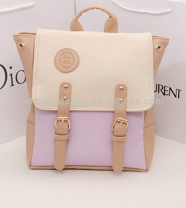 Fashion Cute Small Girl Lady Leather Backpack Bag Knapsack ...