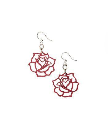Rose Blossom Drop Earrings