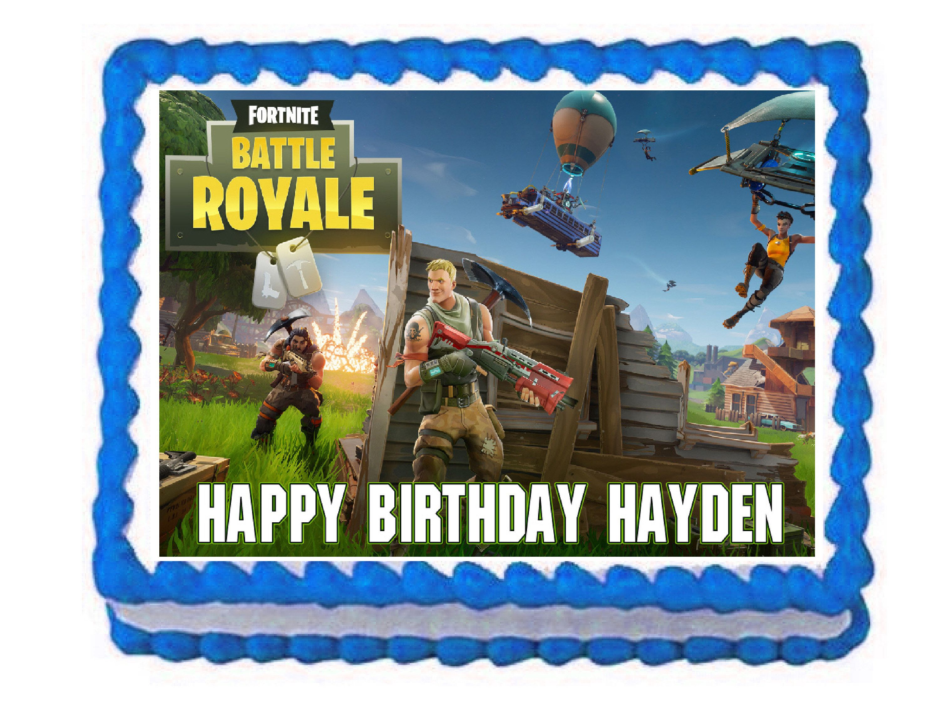 Fortnite Party Edible Cake Image Cake Topper Frosting Sheet