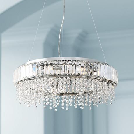 "Lamps Plus Pendant Lights Entrancing Possini Euro Circe 21 34""w Prismatic Crystal Pendant Light  #9J482 Decorating Design"