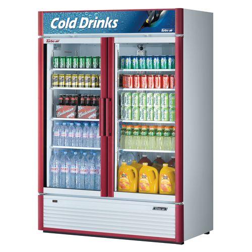Turbo Air 46 2 Cu Ft Glass Door Refrigerated Merchandiser Super