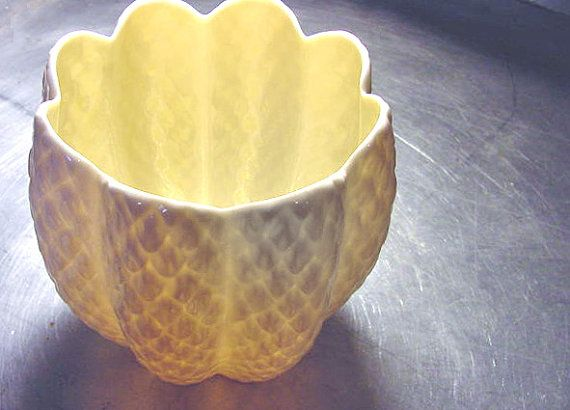 If only these Grew on Trees!! What a beautiful Winter Wedding Present this would make! VINTAGE IRISH BELLEEK Pinecone Vase by ShantyIrishStockyard, $24.50