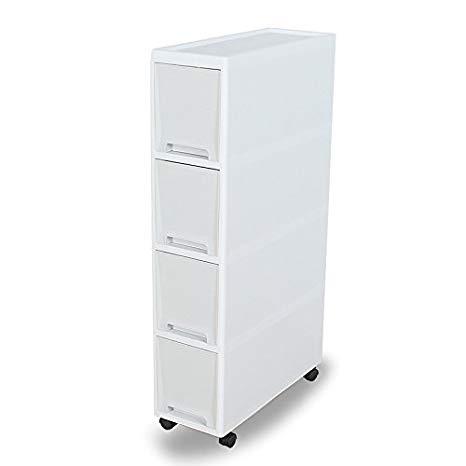 Amazon Com Shozafia Narrow Slim Rolling Storage Cart And Organizer 7 1 Inches Kitchen Storage Cabinet Kitchen Cabinet Storage Storage Cabinet Drawer Shelves