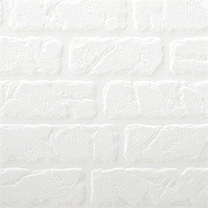 retro art bricks white backsplash tiles wall paneling