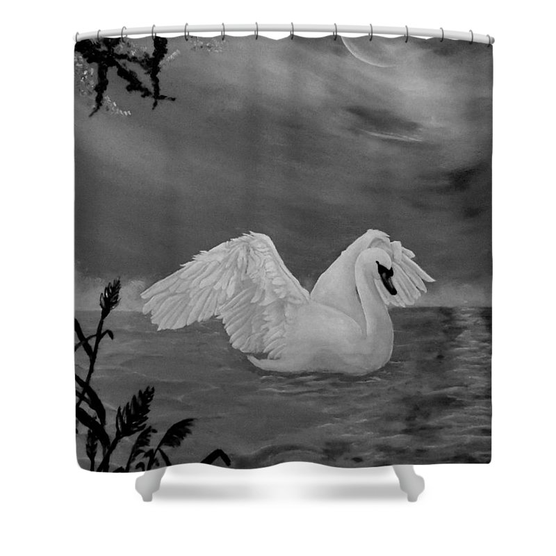 Swan Shower Curtain Featuring The Drawing Night Bath By Faye Anastasopoulou In 2020 Art Canvas Art Prints Canvas Prints