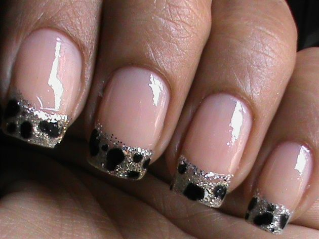 Leopard nail art tutorial In french tip by superwowstyle