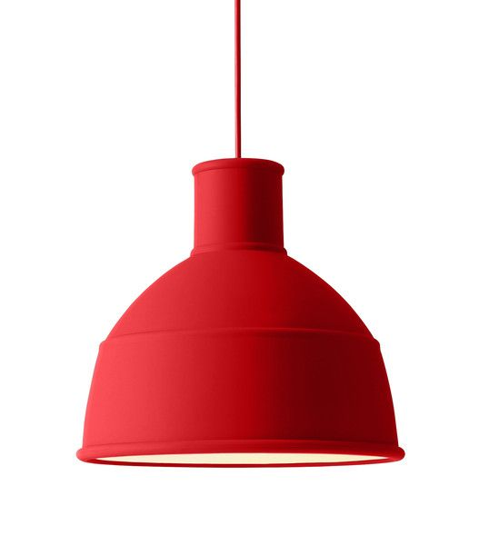 red pendant lighting. Muuto Dusty Red UNFOLD Pendant Light: UNFOLD\u0027s Soft Silicon Rubber Shade By Creates A Unique And Playful Take On The Classic Industry Lamp Design. Lighting