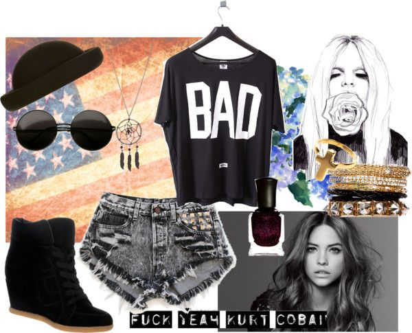 """""""bad girl"""" by glenda-gomes-queiroz ❤ liked on Polyvore"""