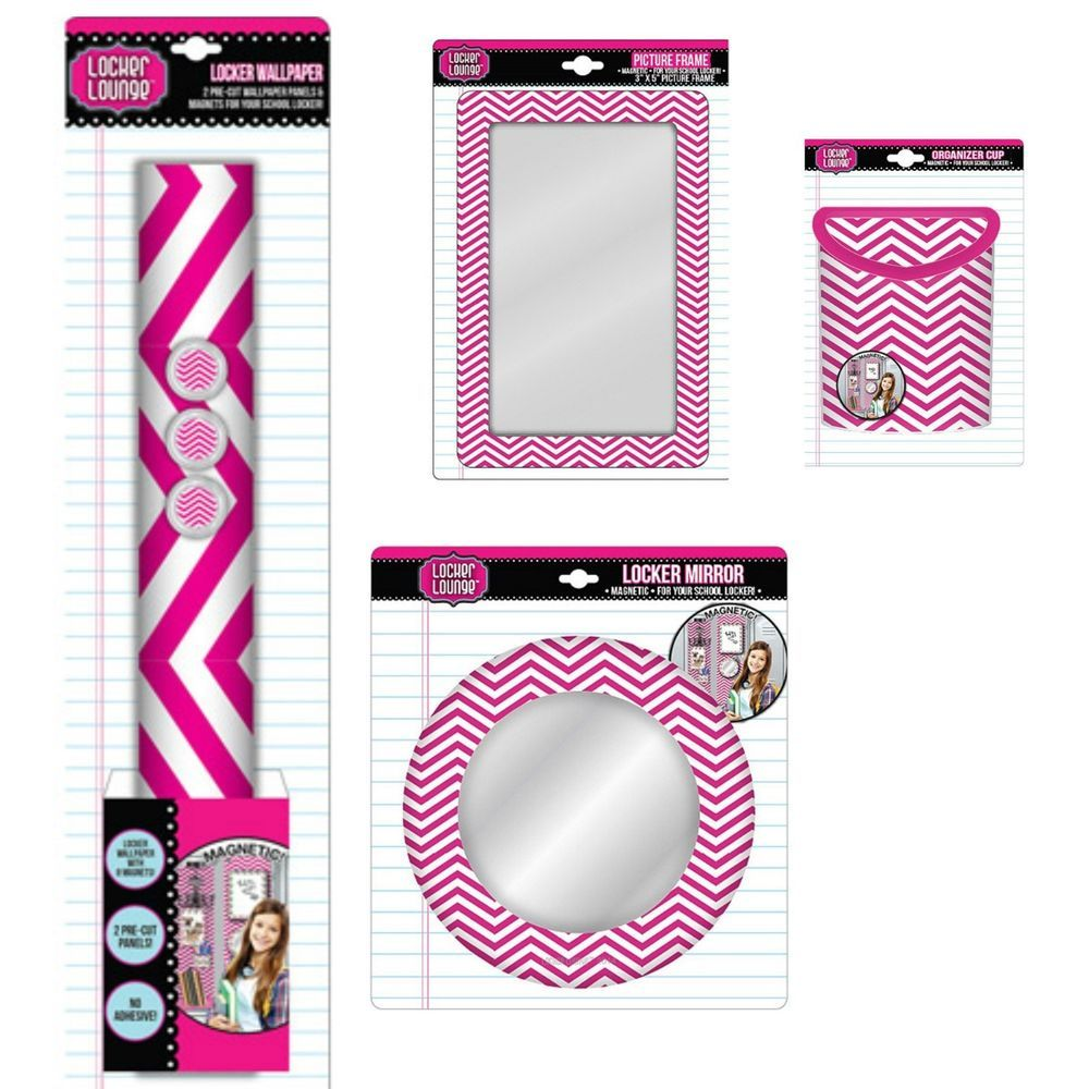 Locker Wallpaper Diy: Locker Lounge Pink Chevron Locker Decorations SET School