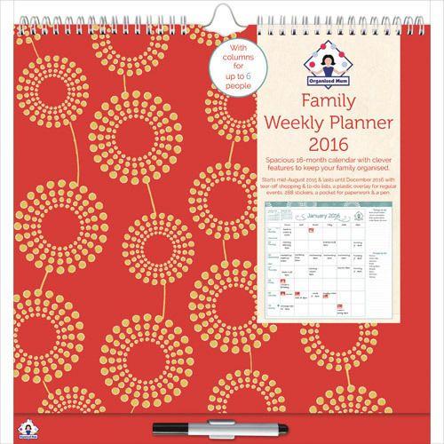 organised mum s family weekly planner 2016 weekly planner school