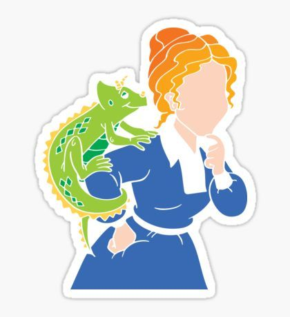 Frizzle school cutout sticker