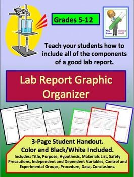 lab report graphic organizer more graphic organizers and