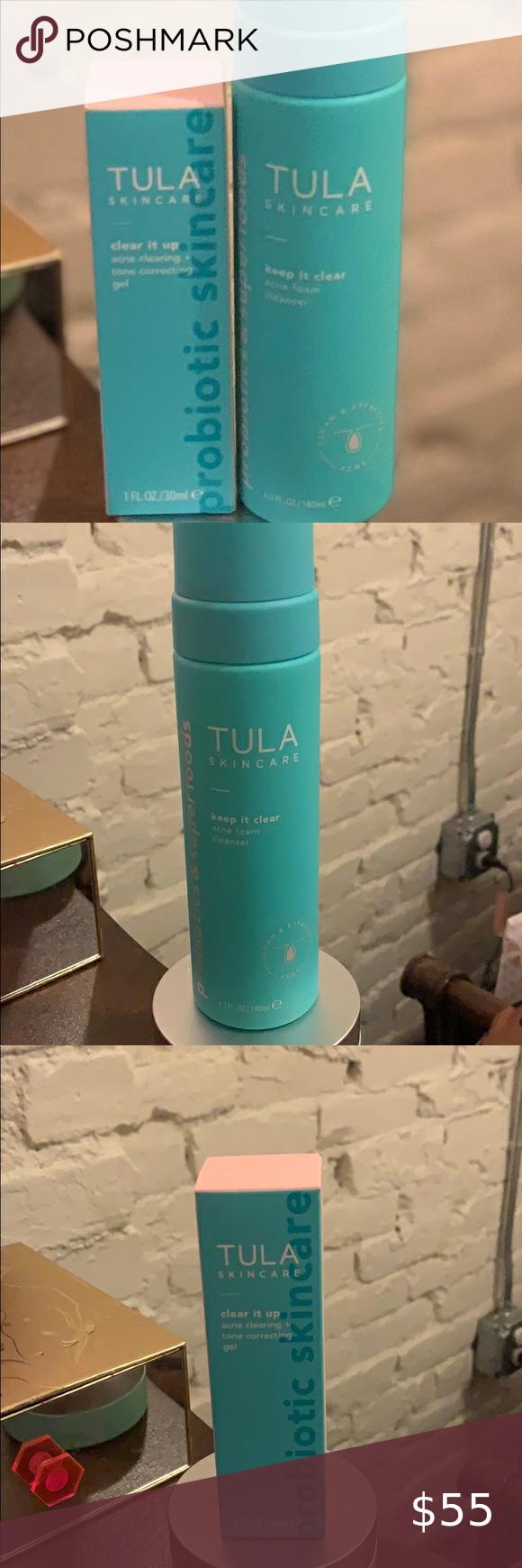 Nib Tula Acne Foam Cleanser Clear It Up Gel Foam Cleanser Gel Cleanser