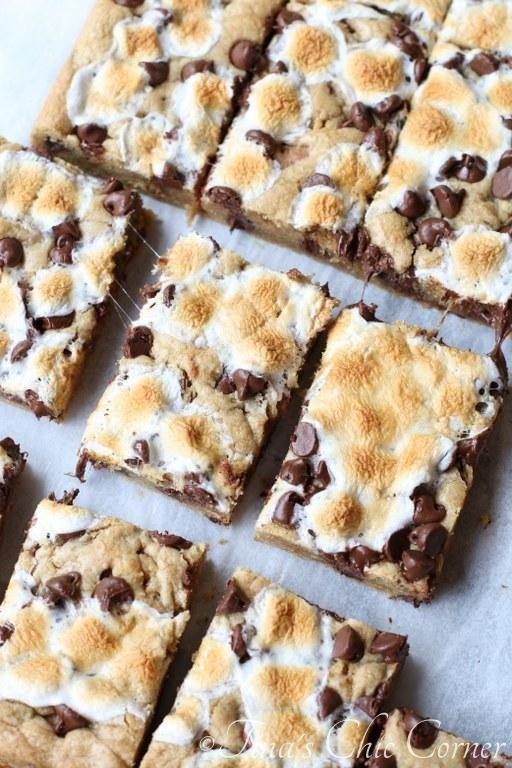 S'more Cookie Bars -   14 desserts Bars restaurant ideas