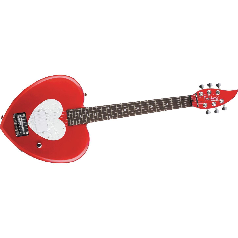 daisy rock debutante heartbreaker short scale electric guitar red