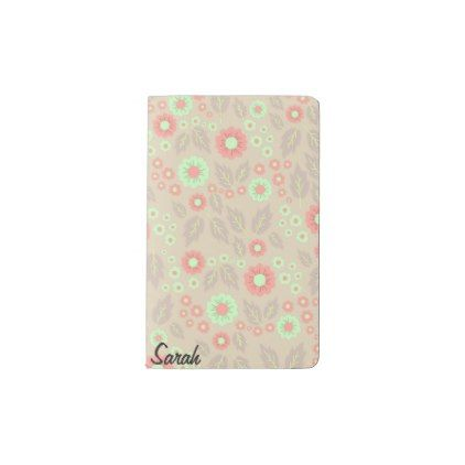 Pastel Autumn Flowers Pocket Notebook- Light Grey Pocket Moleskine ...