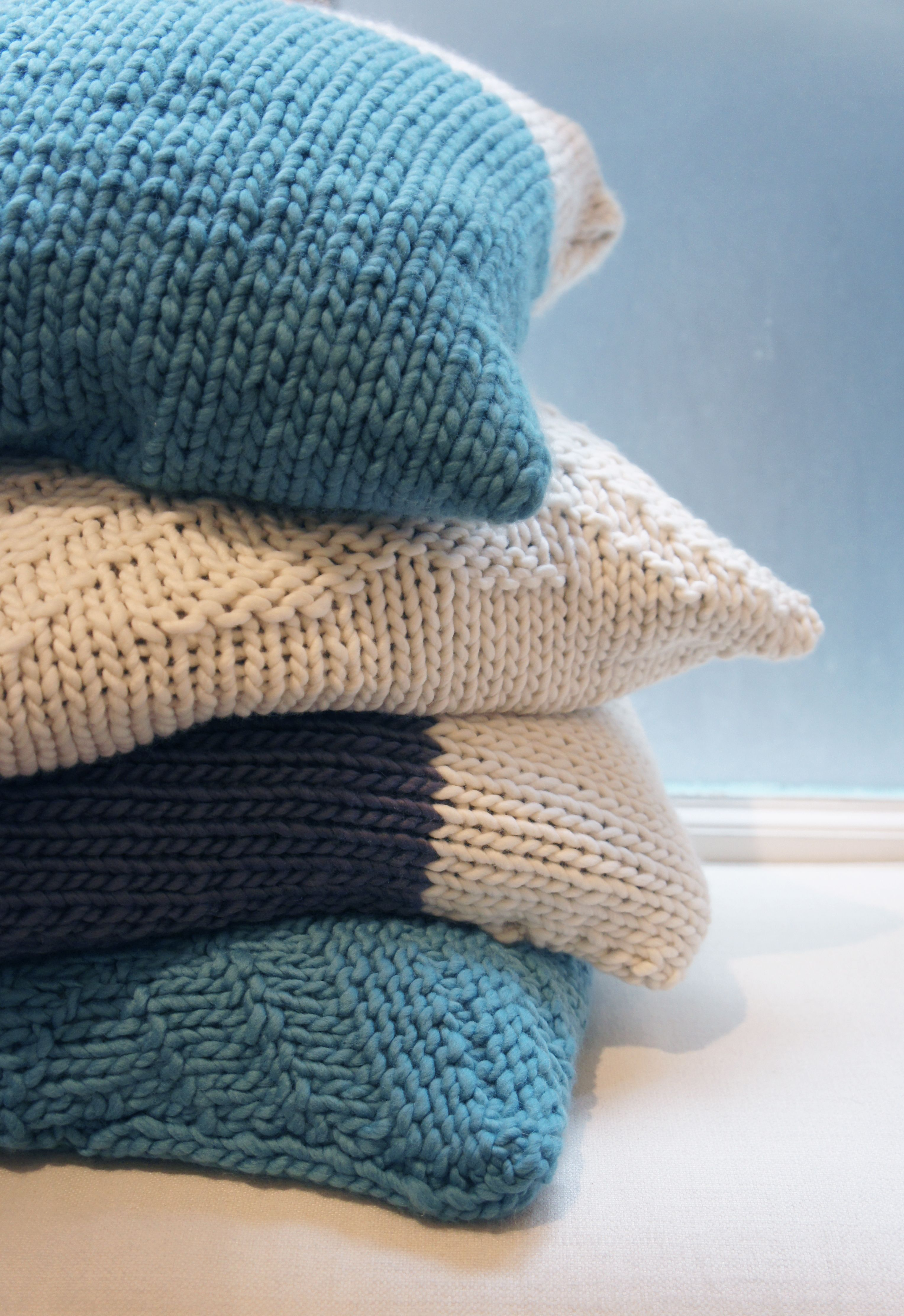 Lovely knitted pillow cases for the home. DIY Knitting Kits Love wool. Chunky wool & Lovely knitted pillow cases for the home. DIY Knitting Kits Love ... pillowsntoast.com