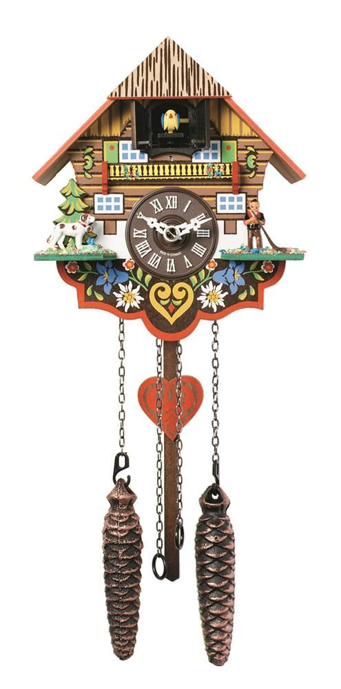 River City Clocks Floral Painted Musical Cuckoo Clock W Heart