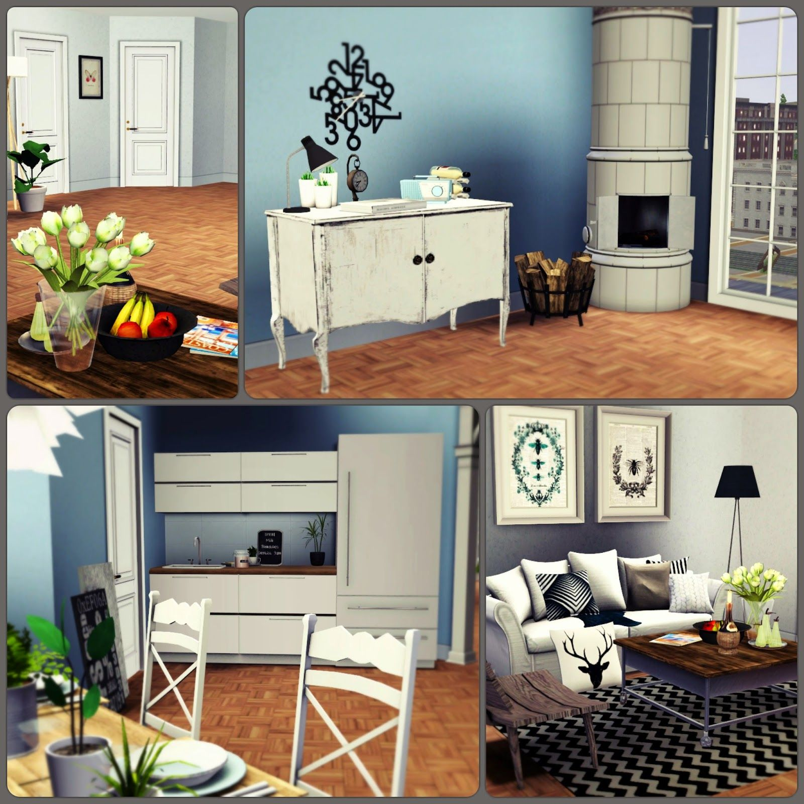 Apartment 13F By Simberry / Kitchen / Sims 3 / Download
