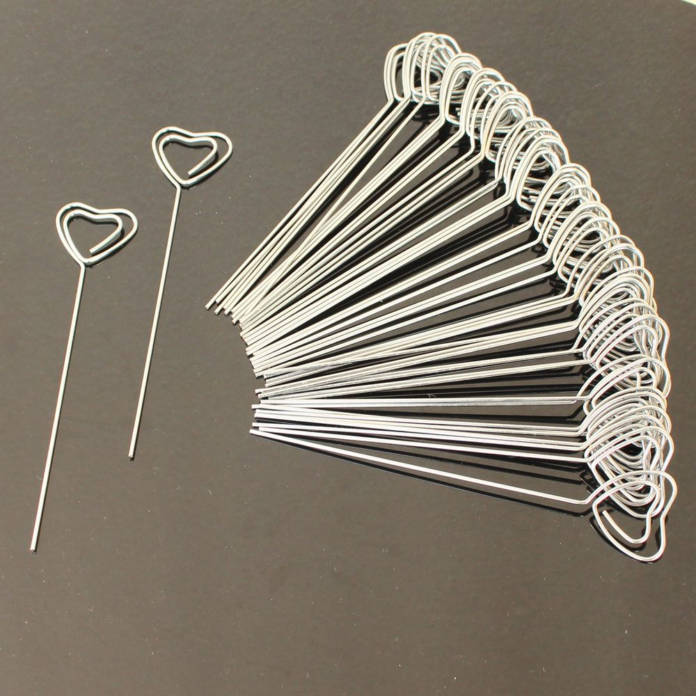 lot 50pc DIY heart shape craft new wire clip cardnotephotomemo ...