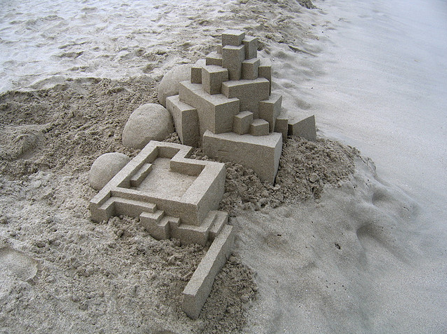 The Sand Castle Goes Postmodern Object Lessons Artinfo Com Sand Castle Postmodernism Sand Art