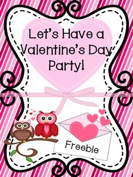Valentines Day Party and Card Exchange Letter to Parents FREE