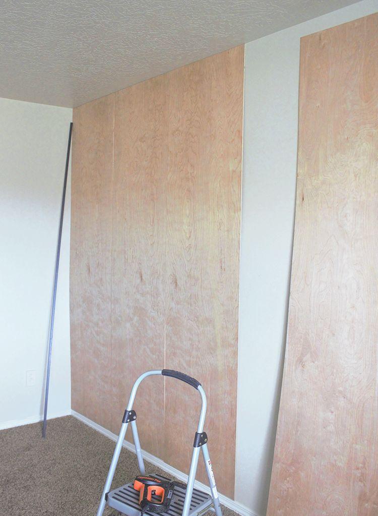Easy Diy Plywood Panel Wall On A Budget Wall Paneling Diy