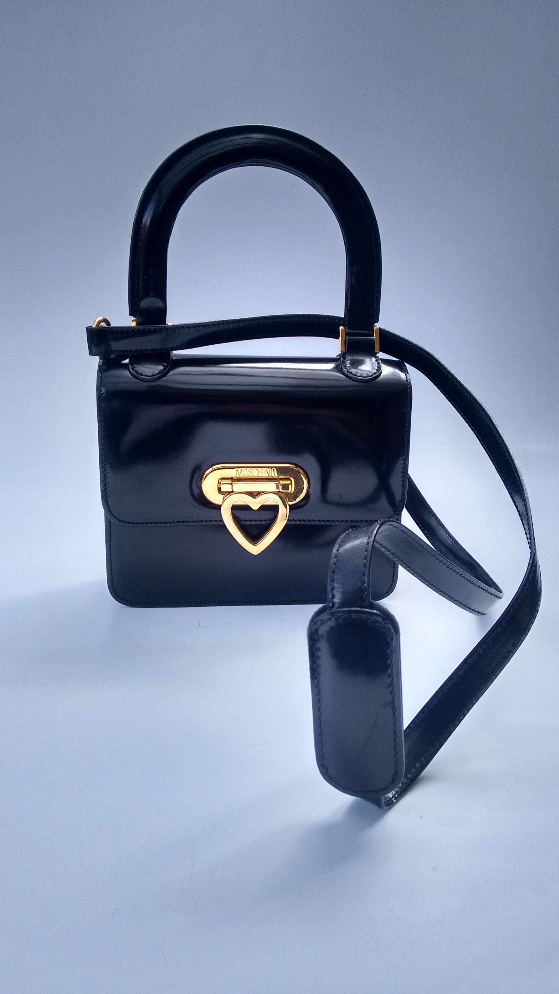 ca4ef2c32b MOSCHINO Bag. Moschino by Redwall Vintage Black Leather Shoulder Bag ...