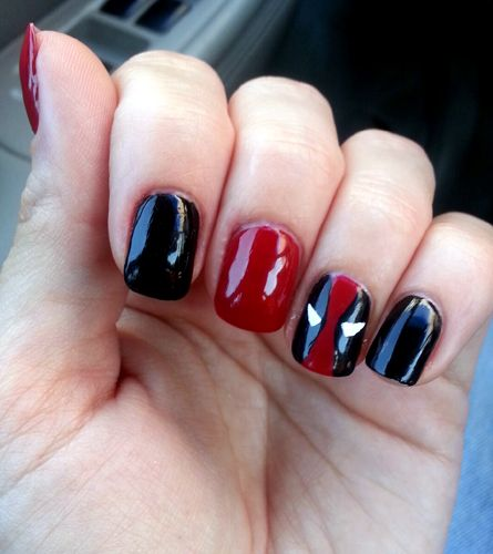 deadpool nail art - Google Search - Deadpool Nail Art - Google Search Nails Pinterest