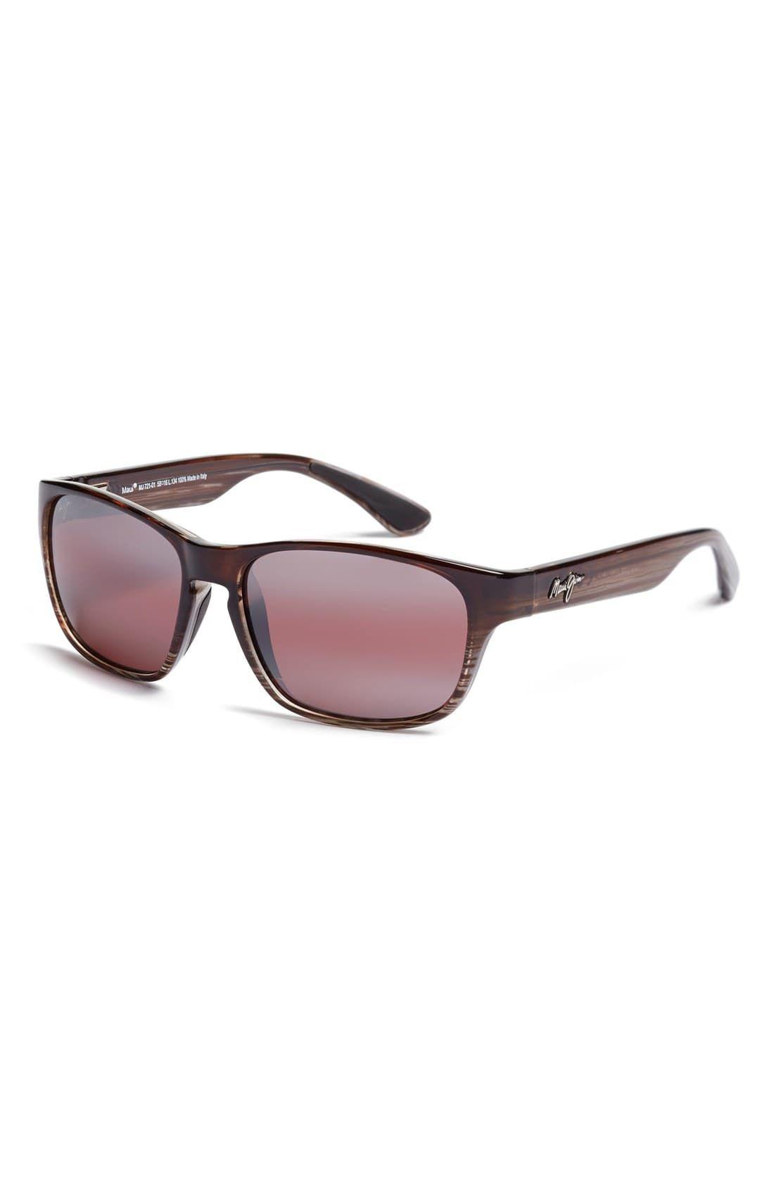 885c65d6627 Men's Maui Jim 'Mixed Plate - Polarizedplus2' 58Mm Sunglasses - Chocolate  Stripe/ Maui Rose