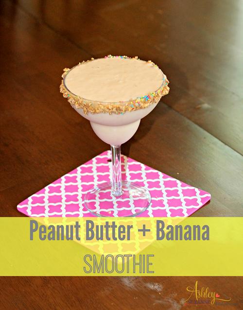 PB+Banana Smoothie #BreakfastEssentials #PMedia and #ad