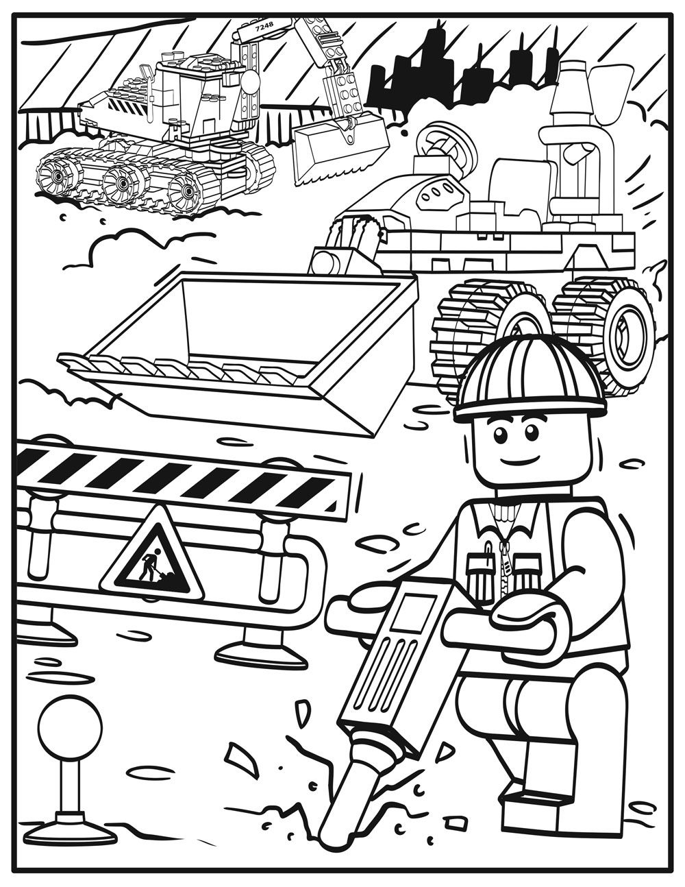 Lego Inspired Printable Coloring Pages Lego Coloring