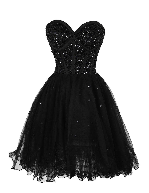 Dressystar short black homecoming dress,sexy homecoming dresses ...