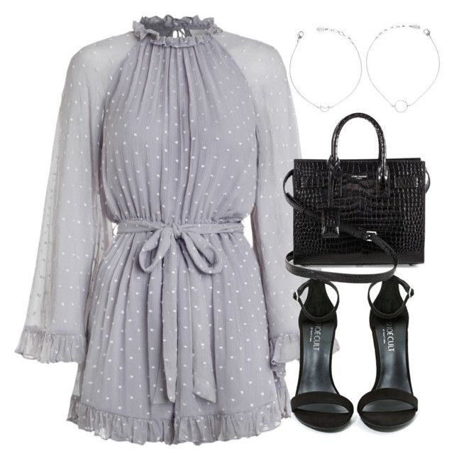 """""""Untitled #3682"""" by theeuropeancloset on Polyvore featuring Zimmermann, Shoe Cult and Yves Saint Laurent"""