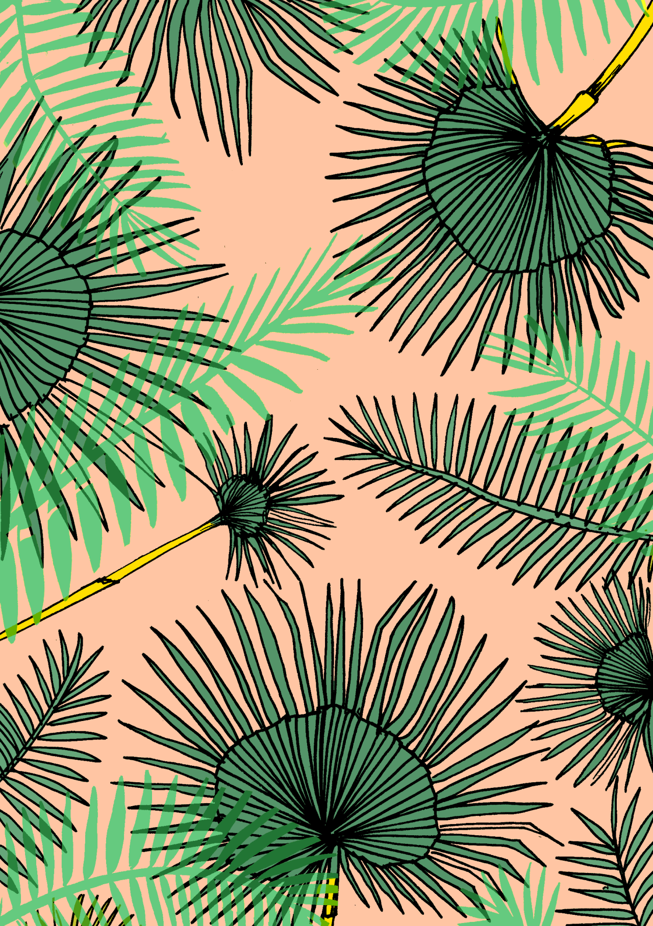 Elena Boils With Her Palm Tree Pattern