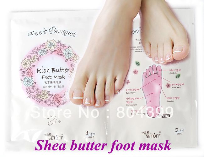 Good quality Superfine shea butter Care Type Foot Mask moisturizing Whitening foot skin free shipping $10.00
