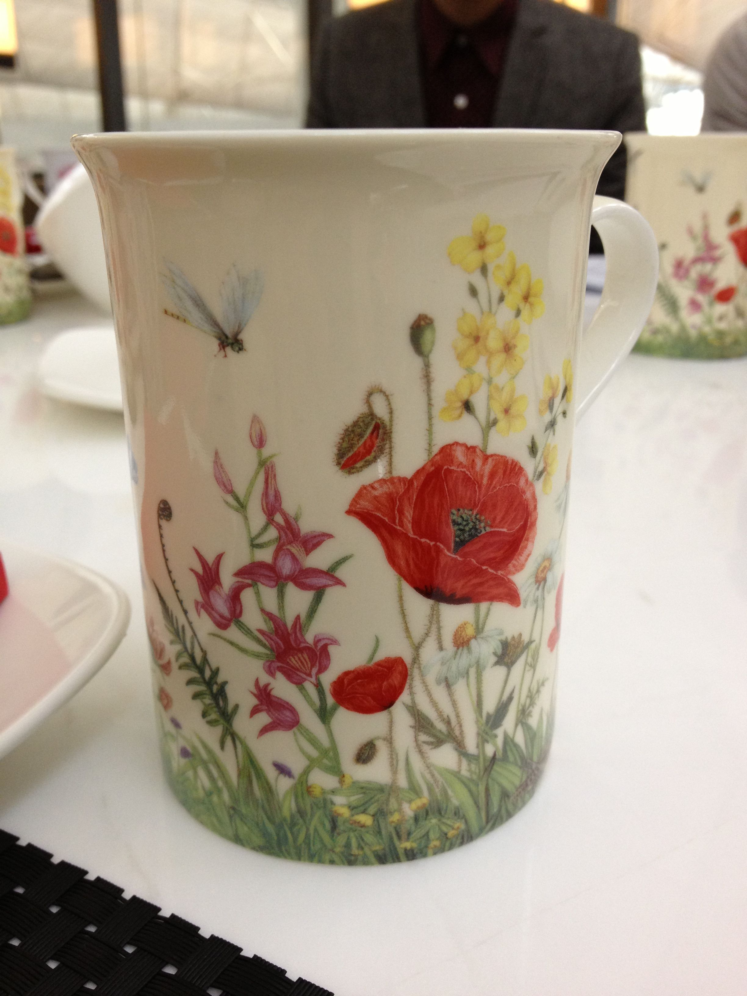 Flowers on a cup