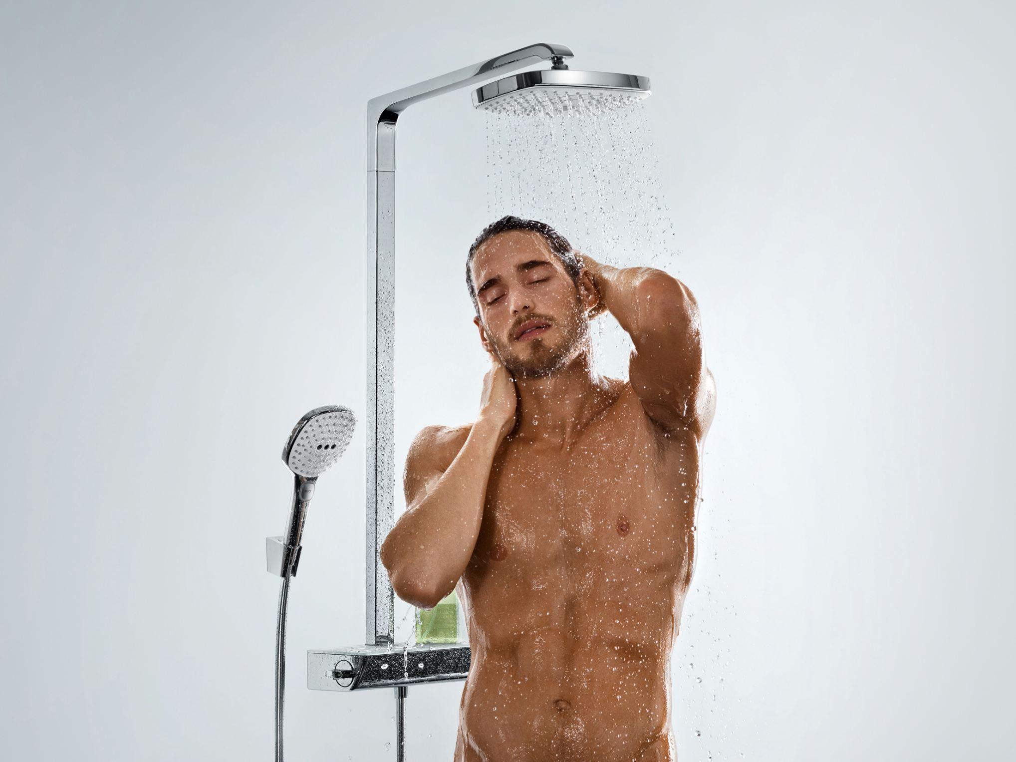 HANSGROHE et sa magnifique colonne de douche RAINDANCE SELECT E 300 Showerpipe