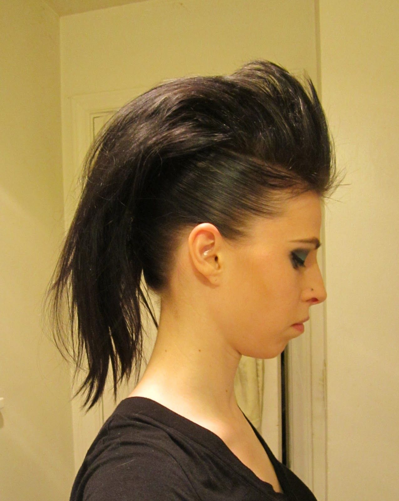 Inspired xpression how to make a mohawk with long hair hair