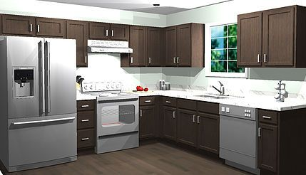 These In Stock Kitchen Cabinets Are Priced At $1,957.54 And Is Made With  100% All