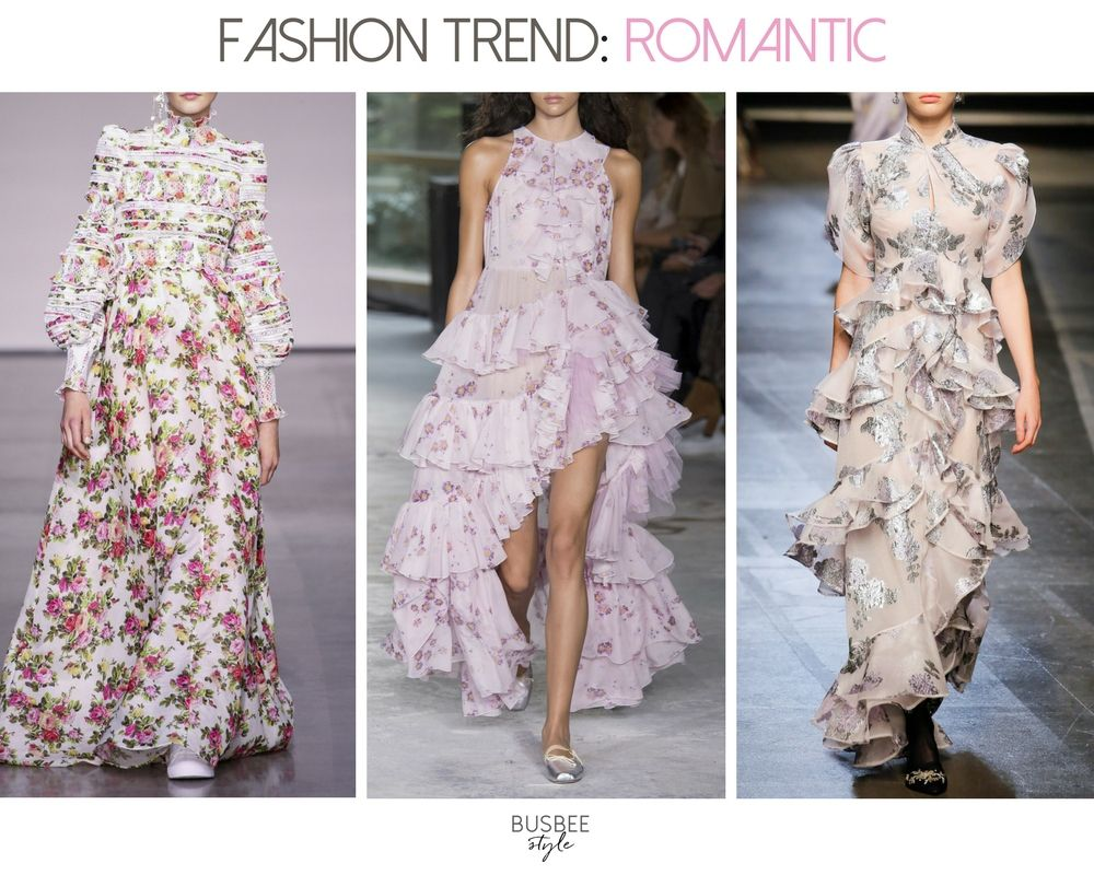 Spring Fashion Trends 2018 Romantic Inspired Clothing Is One Of The Season