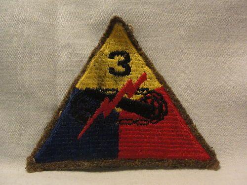Details about ORIGINAL WWII WW2 U S  ARMY 3RD ARMY PATCH
