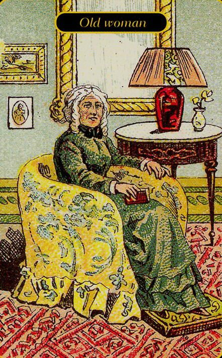 Old Tarot Cards Full Deck The High Priestess Stock: Gypsy Oracle Cards - Old Woman
