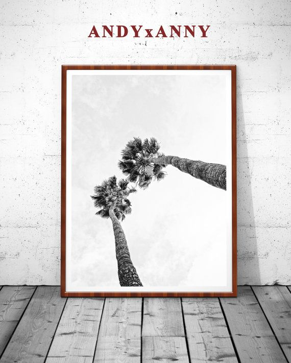 Printable Tree House Plans: Palm Print, Palm Tree Print, Black And White Palm