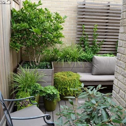 Love the little seats and container garden. Central Park West