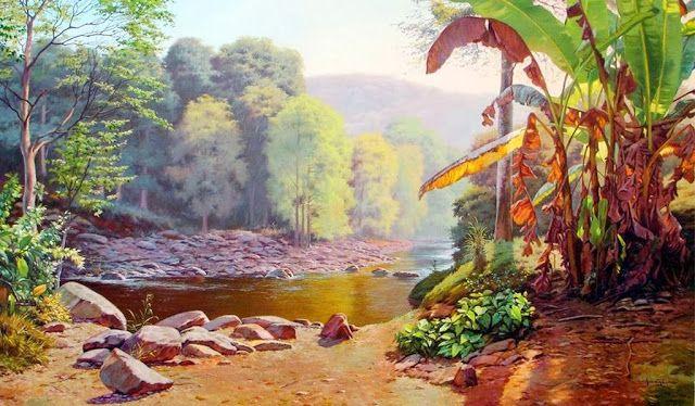 Dibujos con Acrílico Paisajes, Pinturas Fotorealistas Venezolanas | Imágenes Arte Temático